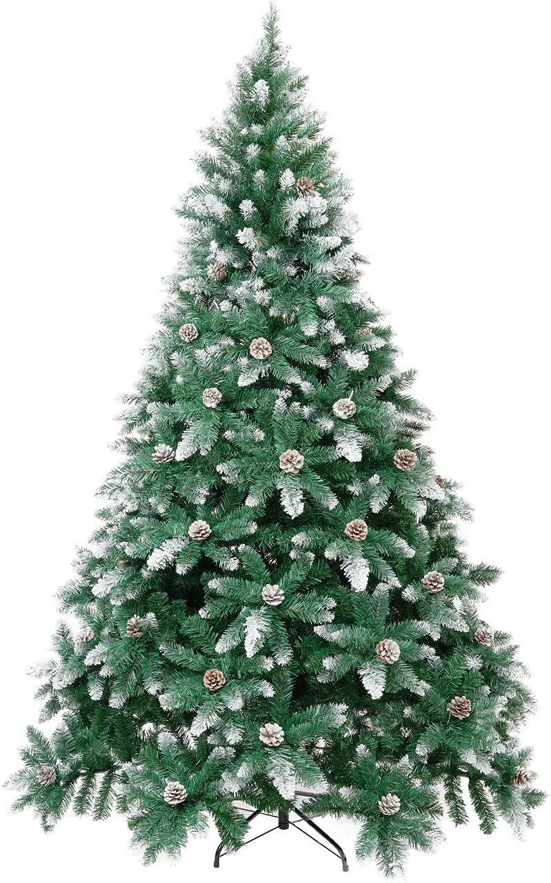 Winregh 4 5 6 7.5 Foot Hi Tree Ranking TOP17 Recommended Snow Flocked Christmas Artificial