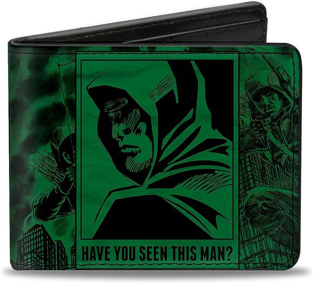 Buckle-Down Bifold Wallet Green Arrow