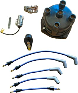 Marine Tune Up Kit with Plug Wires for Some 4 Cyl In-line Single Point GM Mercruiser