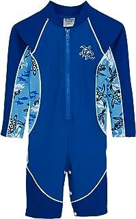 (16-2040-4/5) トゥガ男の子用UPF50+ハイタイド長袖ウエットスーツ型水着?ハイシー?サイズ:4-5才