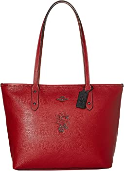 Minnie Mouse City Zip Tote with Motif ©Disney x COACH