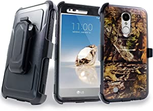 LG K20 Plus Case, Mstechcorp with Built-in [Screen Protector] Heavy Duty Full-Body Rugged Holster Armor Case [Belt Swivel Clip][Kickstand] For LG K20 Plus / K20 V, with Goodie (Camo)