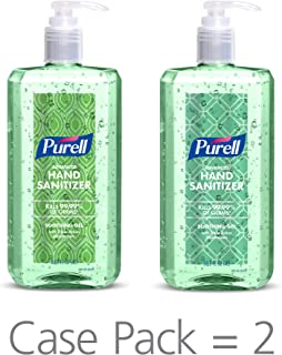 PURELL Advanced Hand Sanitizer Soothing Gel Metallic Design Series, Fresh scent, with Aloe and Vitamin E - 1 Liter pump bottle (Pack of 2) - 3081-02-ECDECO