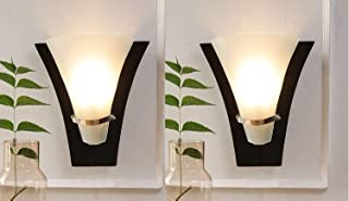 Improvhome Set of 2 Wooden Uplighter LED Wall Light (Model :- P-5)