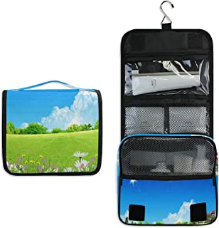 Hanging Toiletry Bag Sky Scenery Travel Organizer for Makeup and Toiletries for Men Women,Hang Case for Cosmetics and Toilet Accessories with Metal Swivel Hook