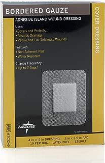 Medline Gauze Border Pad Sterile, 4 Inch x 5 Inch 2 Inch x 2.5 Inch, 15 Count