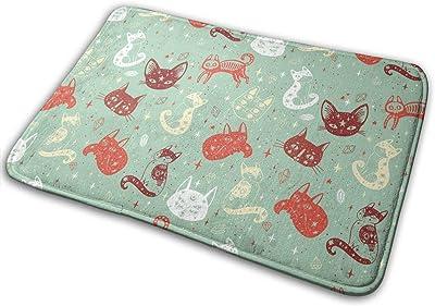 Magical Cat Carpet Non-Slip Welcome Front Doormat Entryway Carpet Washable Outdoor Indoor Mat Room Rug 15.7 X 23.6 inch