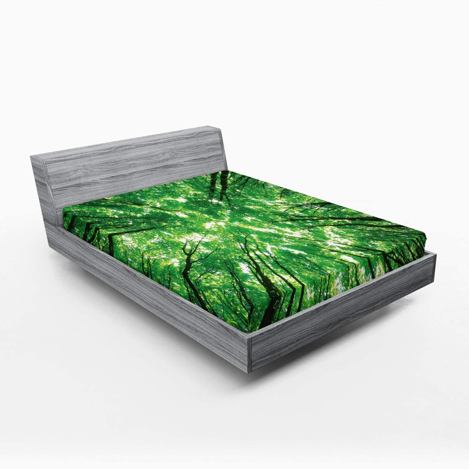 Lunarable Forest Ranking TOP20 Ranking TOP3 Fitted Sheet Tree Tops Sky Vie The from Bottom