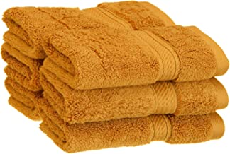 Superior Bathroom Accessories Soft Bath Collection Towel Set, 6PC Face, Rust, 6 Count