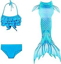 Children Mermaid Tail Set of 3 with Monofin Kids Girls Costumes Swimming Mermaid Tail Mermaid Swimsuit Flipper for girls