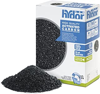 Hydor Activated Carbon Freshwater Professional External Canister Filter Media – Low Ash Content for Fresh Water Aquariums – Produces Crystal Clear Water – Includes Mesh Bag – 100 GM Pouches – 3 Count