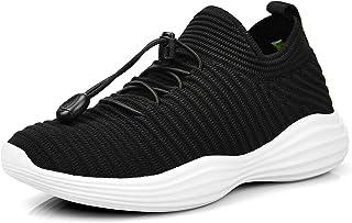 Feetmat Boy's Girl's Running Shoes Lightweight Kids Shoes Sneakers Black 12 M US Little Kid