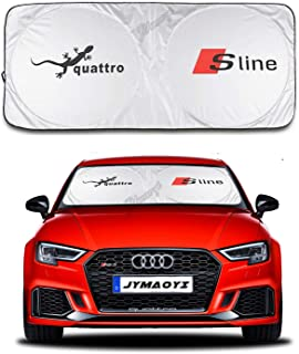 JYMAOYI for Audi Sunshade for Sline Windshield Visor Cover Car Window Sun Shade UV Protect Car Window Film for Audi A3 S3 RS3 A4 A4L RS4 RS5 A5 S4 S5 A6 A6L RS6 RS7 S6 A7 S7 Q2L Q3