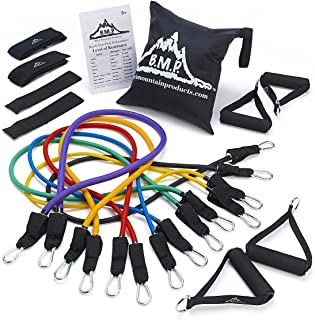 Black Mountain Products Ultimate Exercise Resistance Band, Multicolour, Pack of 7