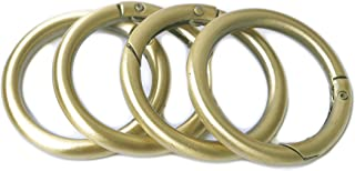 Bobeey 8pcs Spring O Ring,Round Carabiner Snap Clip Trigger Spring Keyring Buckle,O Ring for Bags,Purses BBC3 1.5''(3.8cm)...