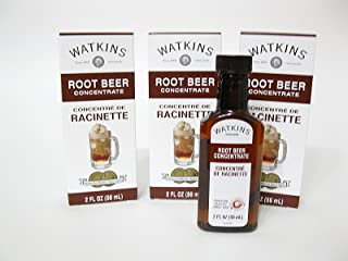 Watkins Extract 2oz Bottle (Pack of 3) Choose Flavor Below (Root Beer)