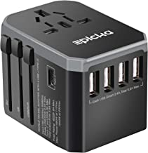 EPICKA Universal Travel Adapter One International Wall Charger AC Plug Adaptor with 5.6A Smart Power and and 3.0A USB Type...