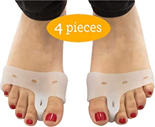 (2 Pairs) Bunion Pads and Toe Spacer Deluxe Combo/Bunion Cushion with Silicone