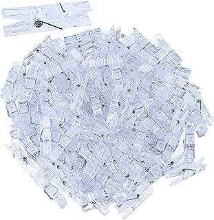 Sunmns 120 Pieces Mini Transparent Plastic Clip Hanging Photo Clips (Clear)