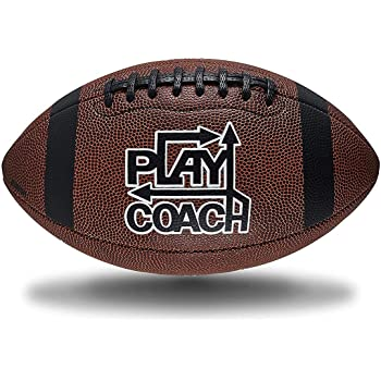 PlayCoach Peewee Unique Grip Youth Football for Kids 6 to 9, Brown, Endorsed by MVP Drew Brees