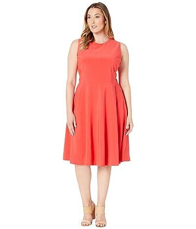 LAUREN Ralph Lauren Plus Size Charley Dress (Summer Poppy) Women