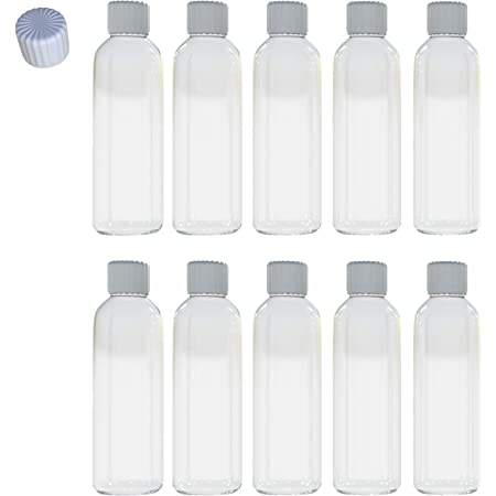 Aneco 10 Pack 100 ml Clear Plastic Travel Bottle Empty Transparent Containers...