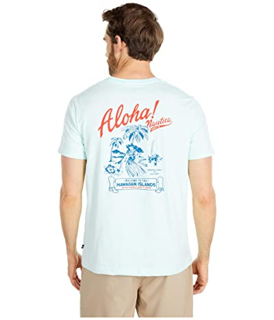 Nautica Aloha Graphic Tee (Blue) Men