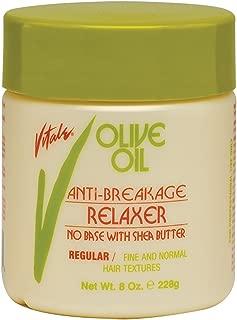 Olive Oil No Base Relaxer Regular, 20 fl oz - Anti Breakage Hair Strengthening Treatment By Vitale