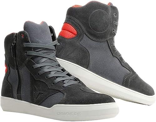 Dainese Chaussures Metropolis D-WP (45 Carbon-Fluo rouge)
