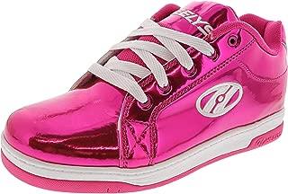 Heelys Boys' Split Sneaker, Black/White, 4 Medium US Big Kid