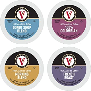 Donut Shop, Morning Blend, 100% Colombian, and French Roast Variety Pack for K-Cup Keurig 2.0 Brewers, 42 Count, Victor Al...