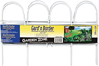 Origin Point Gard'n Border Round Folding Fence, White, 10-Inch x 10-Feet (51010)