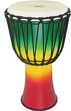 Tycoon Percussion 10 Fiberglass Rope Tuned Djembe Color FINSIH, Jamaican (Red/Yellow/Green) (TFAJ-10JC)