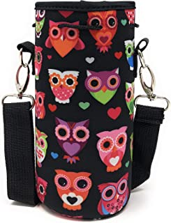 Neoprene Water Bottle Carrier Bag Pouch Cover, Insulated Water Bottle Holder (32 oz / 1-1.5L) w/ 49