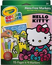 Crayola Color Wonder Markers, Mess Free Hello Kitty 15 Page Coloring Pad and 4 Markers