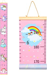 Growth Chart, Kids Wall Ruler Removable Height Measure Chart for Boys Girls Growth Ruler Unicorn Wall Room Decoration (200...