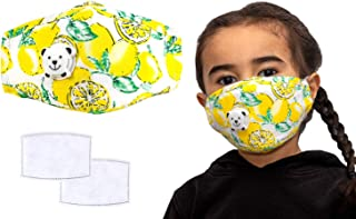 Anti Pollution Child's Masks, Reusable Kids Colourful Face Masks, Comes With Replaceable Filters and Respiratory Valve, Ac...