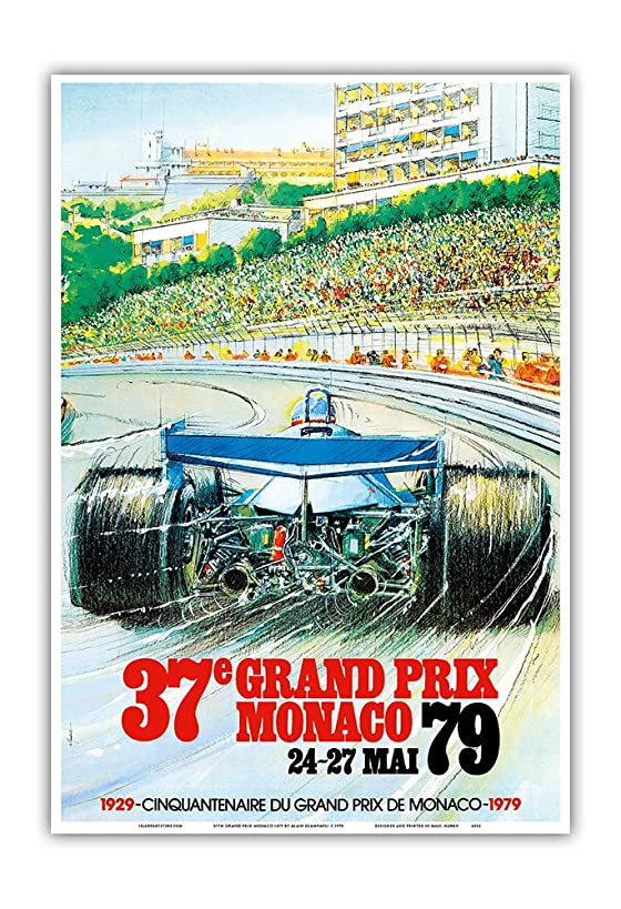 37th Grand Prix Monaco 1979 - Formula One Auto Racing - Vintage Sports Poster by Alain Giampaoli c.1979 - Master Art Print - 13in x 19in