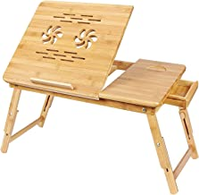 Qualimate Portable Foldable Wooden Laptop Stand lapdesk Notebook e-Table for MacBook