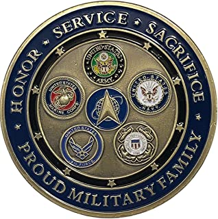 Proud Military Space Force Challenge Coin - All Services Military Challenge Coins, Marines, Army, Air Force, Navy, Coast G...