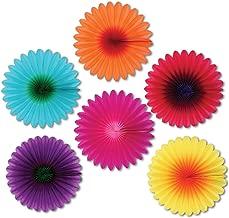 Mini Flower Fans Party Accessory (1 count) (6/Pkg)