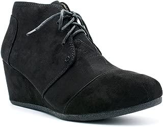 SODA Women's Rex Lace-Up Oxford Ankle Booties Hazel IMSU