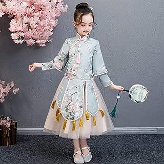 Luxury Children Princess Dress Costume Girls Dress Costume Princess Dress Costumes Girls Long-Sleeved Dress Chinese New Year Dress ryq (Size : 160)