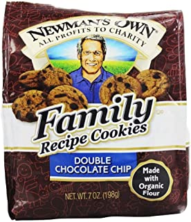 Newmans Own Organics Double Chocolate Chip Cookie, 8 Ounce - 6 per case.