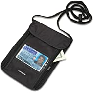 RFID Security Neck Pouch, Black