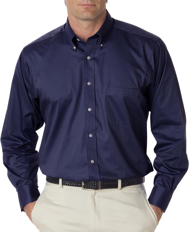 Van Heusen Men's Regular Fit Twill Solid Button Down Collar Dress Shirt