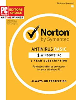 Norton AntiVirus - 1PC 1 Year Subscription - Product Key Card - 2019 Ready