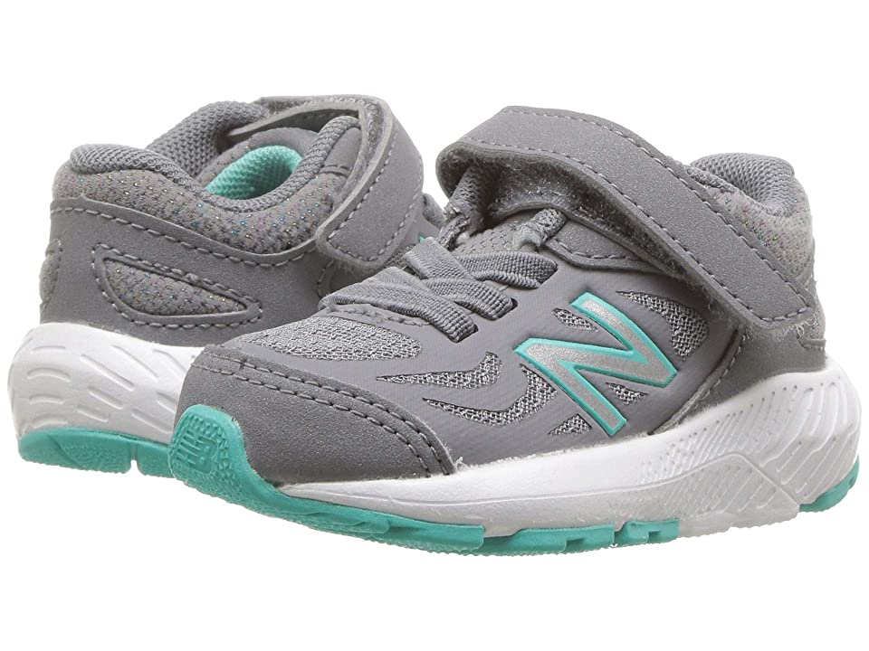 New Balance Kids KV519v1I (Infant/Toddler) (Gunmetal/Aquarius) Girls Shoes
