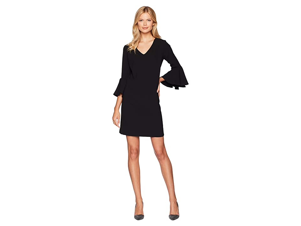 Karen Kane Bell Sleeve Dress (Black) Women