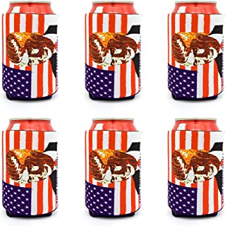 Trump Can Coozies USA Flag Beer Can Cooler Sleeve 6 Pc Neoprene Can Coolers